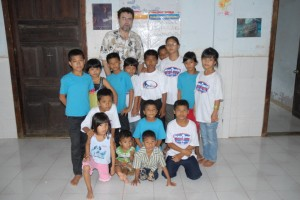Elder Shafer with the Children of PRM Orphanage