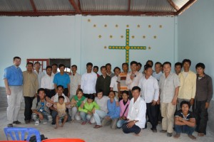 Group photo of congregation in attendance.