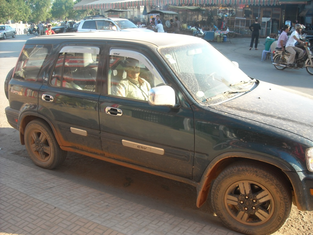 The Old CRV has been put through it on the roads of Battambong.