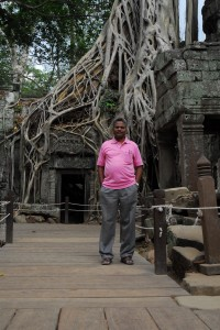 Visitng Ta Prohm before flying home.